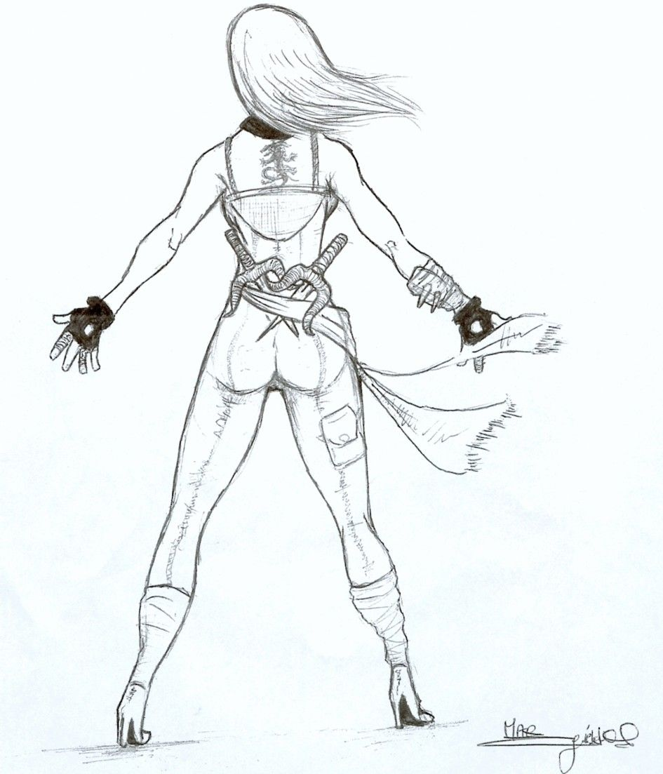 dessin manga guerriere